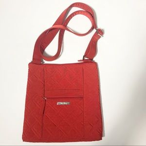 Vera Bradley Tango Red Adjustable Zipper Crossbody